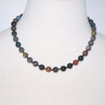 Indian Agate Multicolor Beaded Necklace