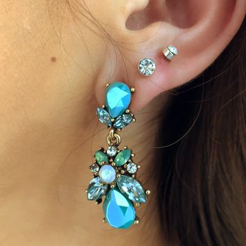 Twinkle Twinkle Earrings: Dusty Turquoise/Multi