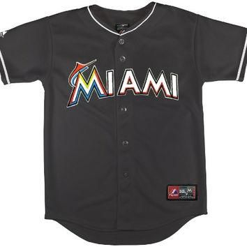 MLB Miami Marlins Alternate Replica Jersey, Black, 18 Months
