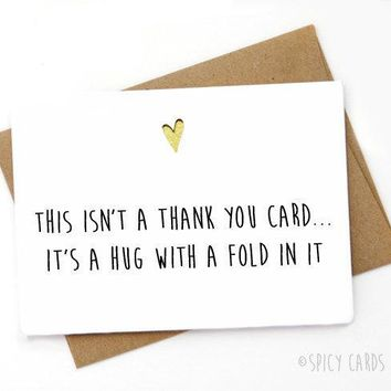 Hug With A Fold In It Funny Mothers Day Card FREE SHIPPING
