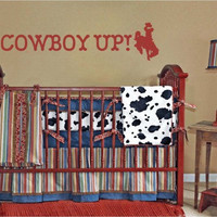 Cowboy Up Vinyl Wall Decal Sticker