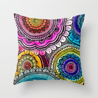 mandala Throw Pillow by Goyye