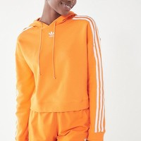 adidas Originals Adicolor 3 Stripes Cropped Hoodie Sweatshirt | Urban Outfitters