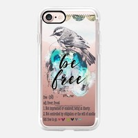 Casetify iPhone 7 Classic Grip Case - Be free by Li Zamperini Art #iPhone 7