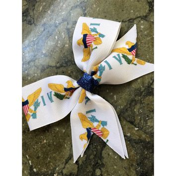 Virgin island cheer bow