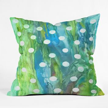 Rosie Brown Dots And Dots Throw Pillow