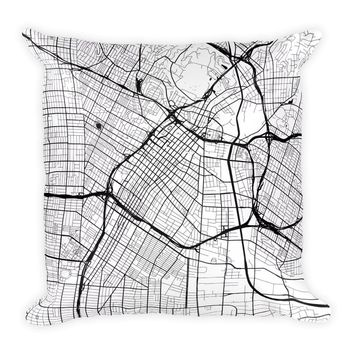 Los Angeles Map Pillow – Modern Map Art