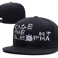 HAIHONG Cage The Elephant Band Logo Adjustable snapback Embroidery Hats Caps - Black