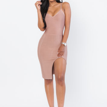 Gaia Bandage Dress - Nude