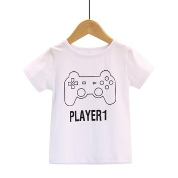 Father & Son Matching Pair T-Shirts - Player 1 Player 2