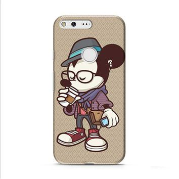 Mickey Mouse hipster coffee Google Pixel XL 2 case