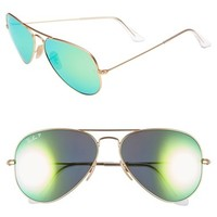 Women's Ray-Ban 58mm Aviator Polarized Sunglasses