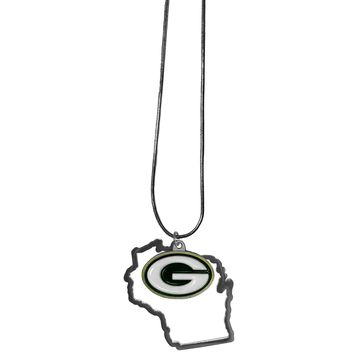 Green Bay Packers State Pride Charm Necklace