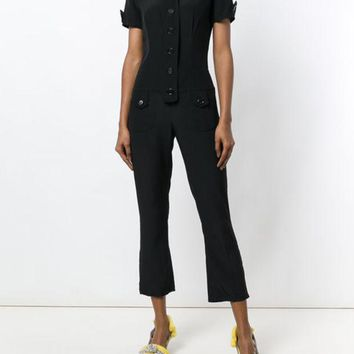 DCCKIN3 Moschino Vintage Cropped Shortsleeved Jumpsuit