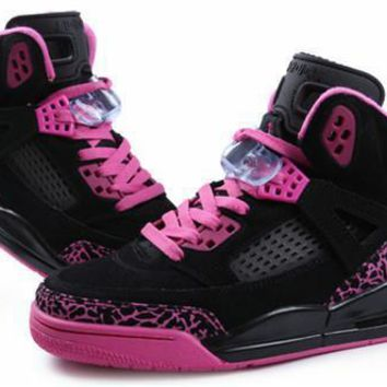 Hot Air Jordan 3.5 Spizike Suede Women Shoes Black Pink