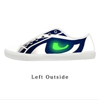 Custom Seattle Seahawks Women's Canvas Shoes Fashion Shoes for Women