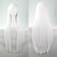 Womens/Ladies 100cm White Color Long STRAIGHT Cosplay/Costume/Anime/Party/Bangs Full Sexy Wig (100cm,Straight,White)