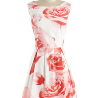 ModCloth Mid-length Sleeveless A-line Cheri Blossom Dress