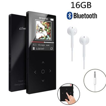 """Original MP3 Player Bluetooth with 16GB 1.8""""Screen FLAC Hifi MP3 Player High Quality Lossless Audio MP3 FM Voice Recording"""
