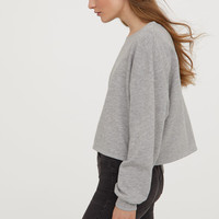 Short Sweatshirt - Light gray melange - | H&M US
