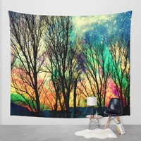 crazy sky Wall Tapestry by Haroulita | Society6