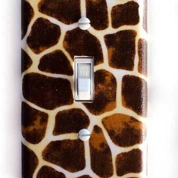 Giraffe Single Toggle Switch Plate, wall decor