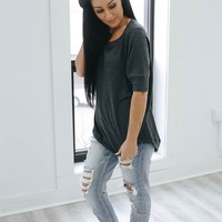 Cozy & Chic Top - Charcoal