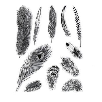CCINEE Feather Style One Sheet Stamp VASE Design Seal For DIY Scrapbooking/Card Making/ Decoration Supplies