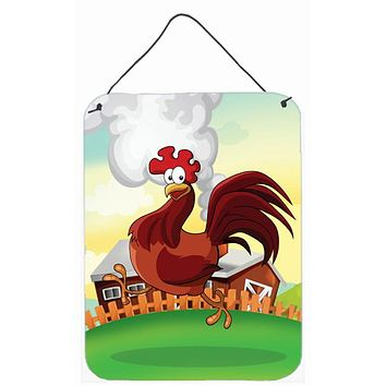 Rooster Chicken on the Run Wall or Door Hanging Prints APH7630DS1216