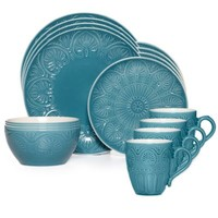 Pfaltzgraff® Dolce 16-Piece Dinnerware Set in Turquoise