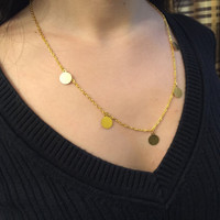 Simplistic Gold Coin Necklace