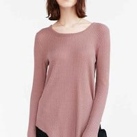 Truly Madly Deeply Helena Raw Edge Thermal Top