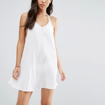 Wolf & Whistle Strappy Back Beach Dress