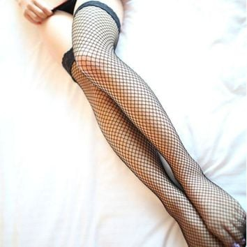 DCCKH3L Fashion Temptation Lace Stitching Hollow Net Socks Stockings