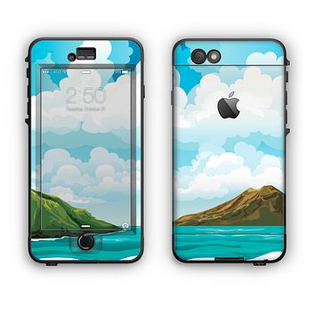 The Mountain & Water Art Color Scene Apple iPhone 6 LifeProof Nuud Case Skin Set