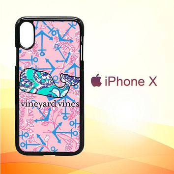 Lilly Pulitzer Vineyard Vines E1375 iPhone X Case