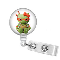 Hello Kitty Ninja Turtle Raphael Name Badge Holder
