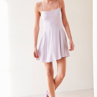 Kimchi Blue Sydney Straight-Neck Fit + Flare Mini Dress   Urban Outfitters