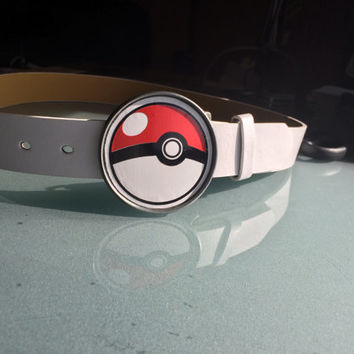 Pokeball Belt buckle Pokemon themed (With belt of your choice) Pikachu , Charmander , Charizard