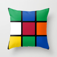 Rubik's Cube Throw Pillow by Sherry Yuan