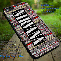 Nirvana Logo in Tribal Pattern iPhone 6s 6 6s+ 5c 5s Cases Samsung Galaxy s5 s6 Edge+ NOTE 5 4 3 #music #nvn dt