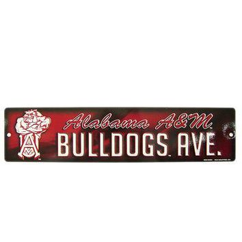 Licensed Alabama A&M Bulldogs Official NCAA Plastic Street Sign by Rico Industries 542672 KO_19_1