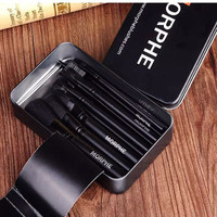Hot Sale Black Metal Box Make-up Brush 12-pcs Tools Make-up Brush Set [11652100175]