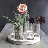 Round Wooden Centerpiece