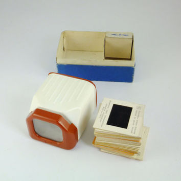 Vintage Russian Diascope,Photography Slide Viewer, Soviet Film Viewer, White and Red, 35 mm, Accessory For Photography St Petersburg, CCCP