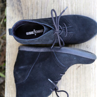 Minnetonka Lace Up 'Hidden Wedge' {BLACK}