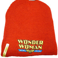 Wonder Woman Hat  - Reversible Beanie