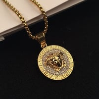 Stylish Jewelry New Arrival Shiny Gift Hot Sale Fashion Accessory Hip-hop Korean Couple Necklace [6544255683]