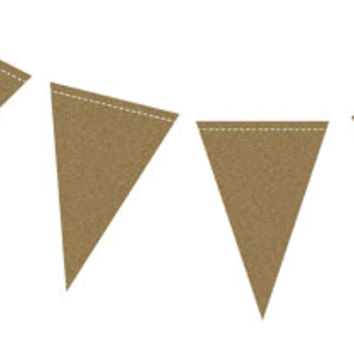 Wedding Garland | Pennant Banner | Gold Foil | Triangle Banner | Birthday Party Banner | Baby Shower Bunting