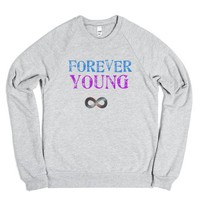 Forever Young-Unisex Heather Grey Sweatshirt